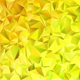Geometrical abstract tiled triangle pattern background. Vector mosaic design from yellow triangles Stock Images