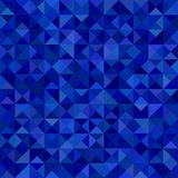 Geometrical abstract triangle mosaic pattern background - vector graphic from triangles in blue tones Royalty Free Stock Photos