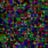 Geometrical abstract triangle mosaic pattern background - vector graphic from triangles in dark tones Stock Images