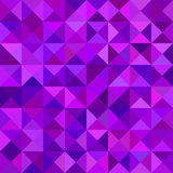 Geometrical abstract triangle mosaic pattern background - vector graphic from triangles Stock Image