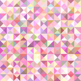 Geometrical abstract triangle tiled pattern background - vector graphic from triangles in colorful tones Stock Image