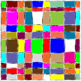Geometrical abstraction. Abstract composition from color rectangles and squares Royalty Free Stock Photography