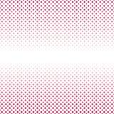 Geometrical abstrakcjonistyczny halftone wzoru tło - wektorowa ilustracja od kwadratów i kropek Obrazy Royalty Free