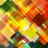 Geometrical abstrakcjonistyczny tło z kolorem żółtym, zieleń Royalty Ilustracja