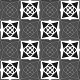 Geometrical Arabian ornament black and white with slim wire Royalty Free Stock Photo