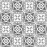 Geometrical Arabian ornament with gray and white Royalty Free Stock Images