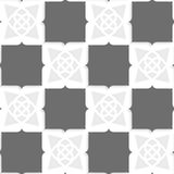 Geometrical Arabian ornament with shades of gray Royalty Free Stock Photography