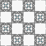 Geometrical Arabian ornament with white and blue Stock Image