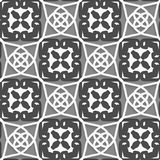 Geometrical Arabian ornament with white dark and light gray Royalty Free Stock Photography