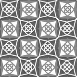 Geometrical Arabian ornament with white and grays Stock Photo