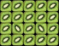 Geometrical arrangement of kiwi fruits Royalty Free Stock Photos