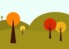 Geometrical autumn landscape Stock Photo