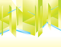 Geometrical background. Geometrical green with blue abstract  background Stock Photography