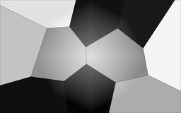 Geometrical background Black and White Stock Photo