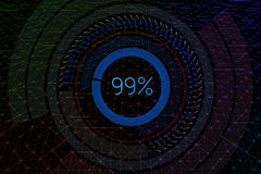 Geometrical background with hud elements. 3D illustration. Royalty Free Stock Image
