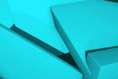 Geometrical background from random cubes. Abstract geometrical background made from random cubes. 3D render illustration Stock Photo