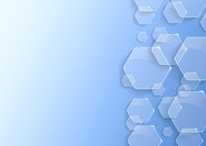 Geometrical background with transparent hexagons Royalty Free Stock Photo