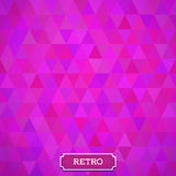 Geometrical background with triangles. Stock Photography
