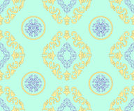 Geometrical barocco wzór Fotografia Royalty Free