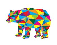 Geometrical Bear Stock Photo