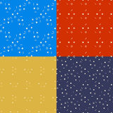 Geometrical bezszwowi wzory ustawiający Linia okręgi Fotografia Stock