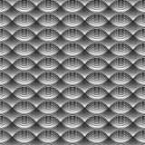 Geometrical Bezszwowy Deseniowy czerń macha na białym tle Zdjęcie Stock