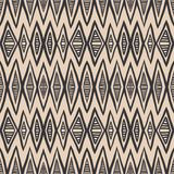 Geometrical bold pattern, art deco style. Geometrical rhombus tribal pattern in soft pastel color and bold wide black lines, seamless vector background Stock Image