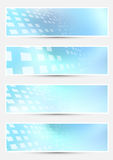 Geometrical bright halftone abstract cards Royalty Free Stock Images