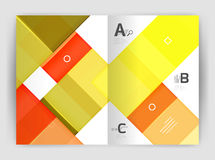 Geometrical brochure a4 business template. Flyer abstract background with infographics abc options. Modern print template Stock Image
