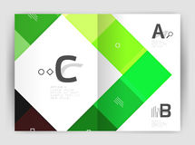 Geometrical brochure a4 business template. Flyer abstract background with infographics abc options. Modern print template Stock Photography