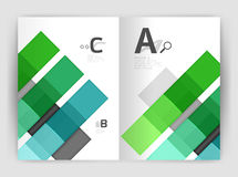 Geometrical brochure a4 business template Royalty Free Stock Photos