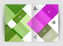 Geometrical brochure a4 business template Stock Photo