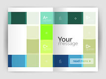 Geometrical brochure a4 business template Stock Photography