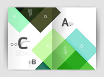 Geometrical brochure a4 business template Royalty Free Stock Images