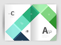 Geometrical brochure a4 business template Stock Images