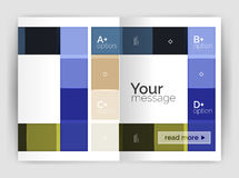 Geometrical broszurki a4 biznesu szablon Obraz Stock