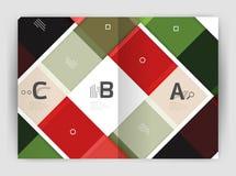 Geometrical broszurki a4 biznesu szablon Fotografia Stock