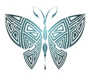 Geometrical butterfly.Tattoo design Royalty Free Stock Photos
