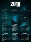 Geometrical calendar of 2016 vector design template. EPS10 Stock Image