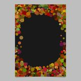 Geometrical chaotic dot pattern brochure background template   Royalty Free Stock Photo