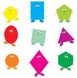 Geometrical characters Royalty Free Stock Photos