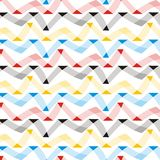 Geometrical and checkered background. Seamless pattern with geometrical on striped and checkered colorful background Royalty Free Stock Photo