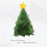 Geometrical Christmas tree,  polygonal background Royalty Free Stock Image
