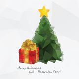 Geometrical Christmas tree,  polygonal background Royalty Free Stock Photos