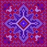 Geometrical color ornament in the Hungarian style. stock illustration