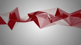 Geometrical colourful abstraction. Rotating translucent red triangles vector illustration