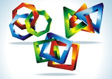 Geometrical 3D shape. Stock Images