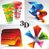 Geometrical 3D shape. Royalty Free Stock Photo