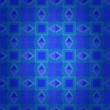 Geometrical dark blue damask seamless texture Stock Image