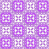 Geometrical deep purple ornament with texture Royalty Free Stock Photo